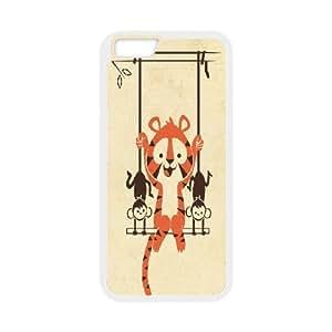 Tiger Monkey iPhone 6 Fashion Cool Case White