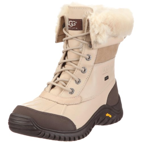 UGG Women's Adirondack II Winter Boot, Sand, 9 B US (Sand Leather Boots)
