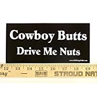 Magnet Cowboy Butts Drive Me Nuts Magnetic Bumper Sticker