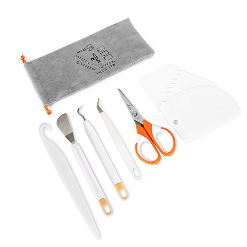 Craft Weeding Tools Set - Craft Weeding Tools with Flannelette Bag for Vinyl by SWISSELITE (9 PCS)