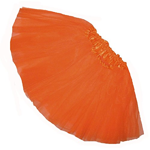 Southern Wrag Company Little Girls Tutu - Short - Baby to 6X (Toddler: 9in Long, Neon Orange Dk)