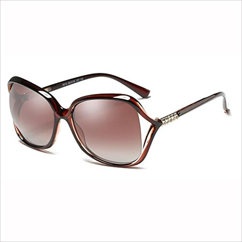 Mujer QZ Moda 3 Drive de Face Light Hollow HOME Gafas Round Medium Elegante Polarized Box Rhinestone 1 Sol Small Color qW0aAwqnr