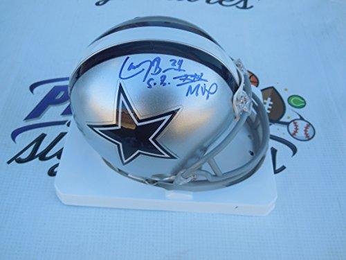 Larry Brown signed Dallas Cowboys mini helmet with Super Bowl XXX MVP COA