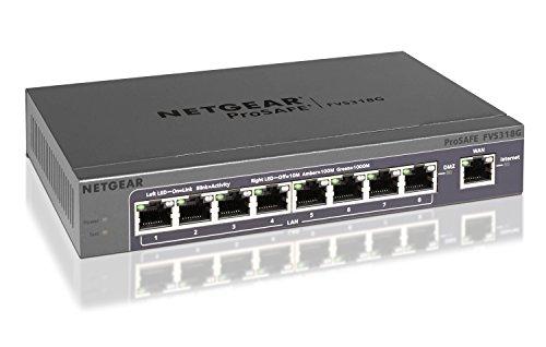 NETGEAR FVS318G-200EUS ProSAFE Gigabit VPN Firewall (8x GbE Ports, 1x GbE WAN Port, IP-Sec VPN, SSL)