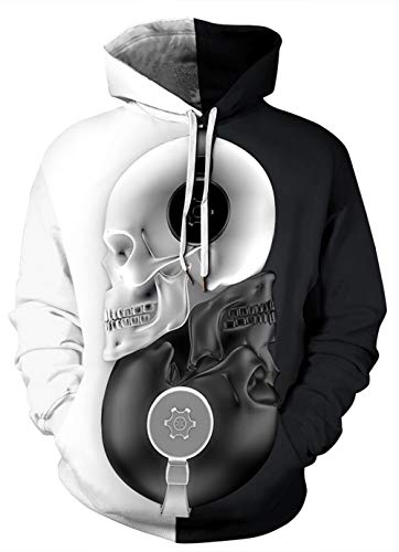 HUASON Unisex 3D Druck Hoodie Halloween Stil Neuheit Kapuzenpullover Langarm Sweatshirt Kapuzenjacke Mit Taschen S-5XL
