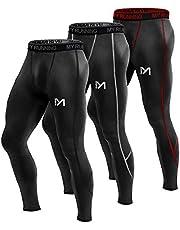 MEETYOO Kompressionshose Herren, Sport Leggings Atmungsaktiv Fitness Strumpfhosen Funktionswäsche Pants Unterhose Lang für Laufen Wandern Radfahren