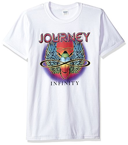 Journey Unisex-Adults Infinity Short Sleeve T-Shirt, White, Extra Large