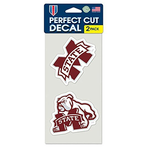 NCAA Mississippi State University Perfect Cut Decal (Set of 2), 4
