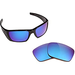 Best SEEK OPTICS Replacement Lenses Oakley FUEL CELL - Polarized Blue Mirror