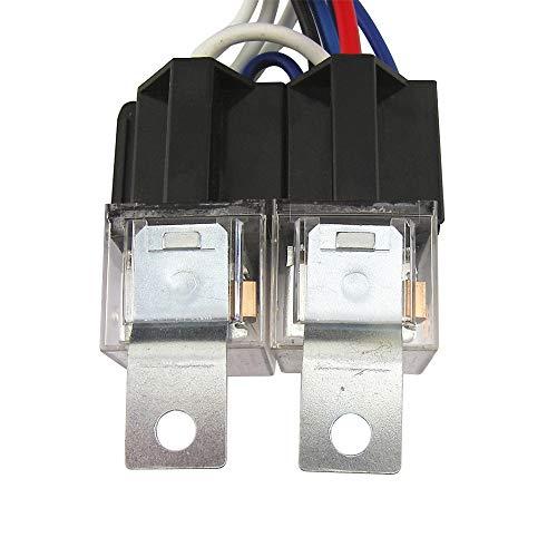 Hanbaili Headlight Wiring Harness Universal Professional Relay Wiring Harness Fix Dim Light Socket Plug Wiring Harness H4: