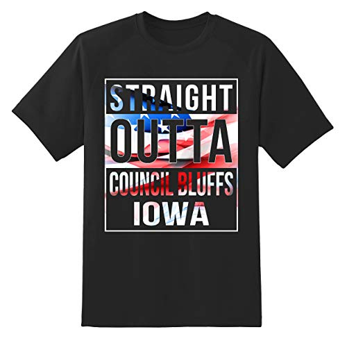 4th of July America Flag Idependence Day 2019 - City State Born in Pride Council Bluffs Iowa IA Unisex Shirt Black (America's Best In Council Bluffs)
