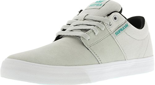 Supra Stacks Vulc II, Sneakers da Uomo Light Grey - White