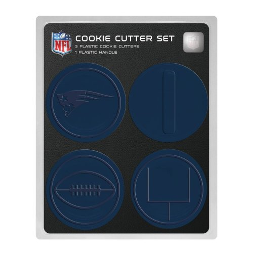 NFL New England Patriots Officially Licensed Set of Cookie Cutters