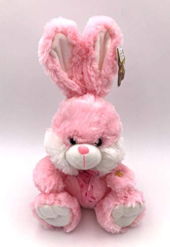 Fluffy Pink Bunnies (B&B ToyMaker Pink Bunny Fluffy Plush Toy with Lighted Cheeks and Musical Cover Song 'You are My Sunshine')