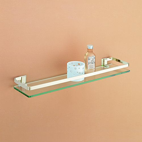 Organize It All Wall Mounting Glass Shelf with Nickle Finish and Rail by Organize It All (Image #2)