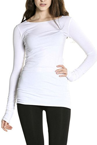 Hard Tail Long Skinny Long Sleeve Crew Tee (XS, White)