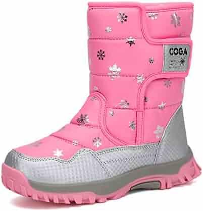 Mishansha Girls Boys Toddler Little Big Kids Winter Fur Snow Boots Warm Water Resistant Antislip Outdoor Shoes