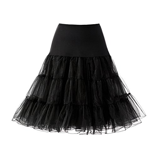 AW 1950s Black Vintage Petticoat Skirt Wedding Crinoline Underskirt Tutu Slips for Women 25