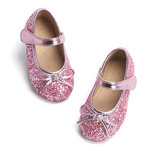 Otter MOMO Toddler/Little Girls Mary Jane Ballerina Flats Shoes Slip-on School Party Dress Shoes -