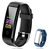 Fitness Tracker Waterproof – Fitness Watch with Heart Rate Blood Pressure Monitor, Activity Tracker with Sleep Monitor, Calorie Step Counter Smart Watch for Women Men Kids Compatible iPhone Android