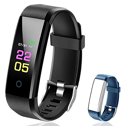 Fitness Tracker Waterproof - Fitness Watch with Heart Rate Blood Pressure Monitor, Activity Tracker with Sleep Monitor, Calorie Step Counter Smart Watch for Women Men Kids Compatible iPhone Android