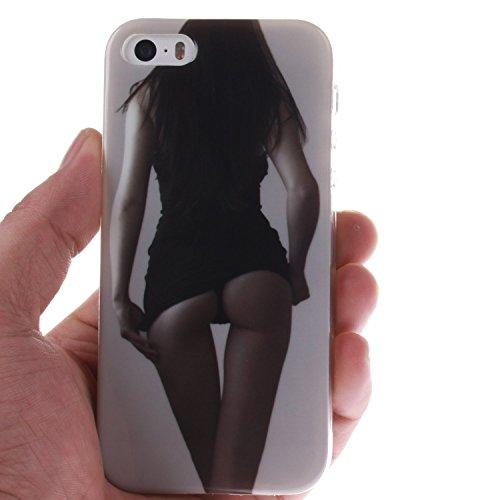 iPhone SE Hülle Silikon,iPhone SE Hülle Transparent,iPhone SE Hülle Glitzer,iPhone 5S Clear TPU Case Hülle Klare Ultradünne Silikon Gel Schutzhülle Durchsichtig Rückschale Etui für iPhone 5,iPhone 5S  Owl 4