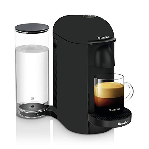 Nespresso VertuoPlus Deluxe Coffee and Espresso Machine by Breville, Matte Black