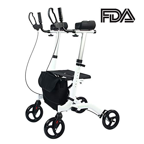 BEYOUR WALKER Upright Rollator Walker Euro Style Stand Up Walking Aid