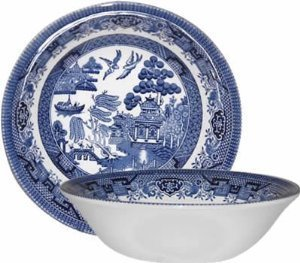 Churchill China Blue Willow Oatmeal Bowls - Set of 6 - Ha...