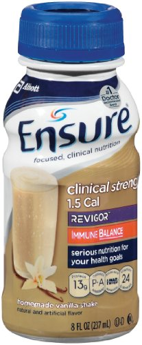 Ensure Clinical Strength Revigor Homemade Vanilla Shake, 8-Ounce (Pack of 16)