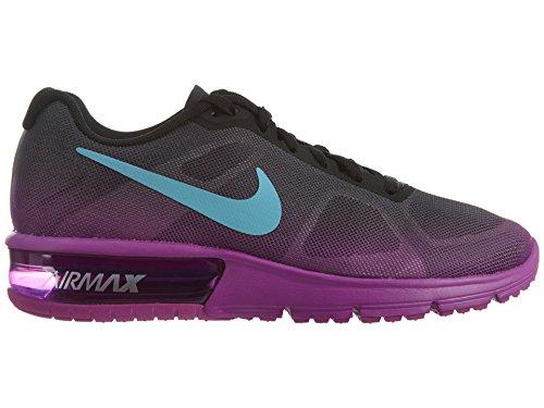 Nike Air Max Donne Sequent Esecuzione Scarpa Nera / Iper Violetto / Grigio Scuro / Gamma Formato Blu 9,5 M Di Noi