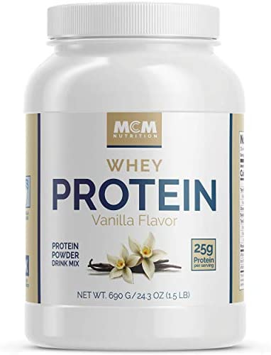 MCM Nutrition – Isolate Whey Protein Powder That s Low Carb – Vanilla 1.5 LB – Delicious Post Workout Protein – Absorbs Quick and Starts Building Muscle Fast with BCAAs 23 Servings