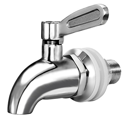 ([Updated] More Durable Beverage Dispenser Replacement Spigot,Stainless Steel Polished Finished, Water Dispenser Replacement Faucet, fits Berkey and other Gravity Filter systems as well )