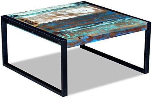 """Voor Goedkoop Festnight salontafel van metaal """"Le Style Industriel"""" van hout 80 x 80 x 40 cm  UIaSKGV"""