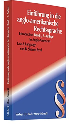 Introduction to Anglo American law and language (Rechtssprache des Auslands)