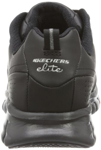 Skechers Sport Dames Elite Synergy Fashion Sneaker Zwart Leer