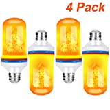 TOMTOO LED Flame Effect Fire Light Bulbs with Upside Down Effect E26 Base LED Bulb Simulated Decorative Light for Easter/Festival /Hotel/ Bars/Home Decorations (2pack)