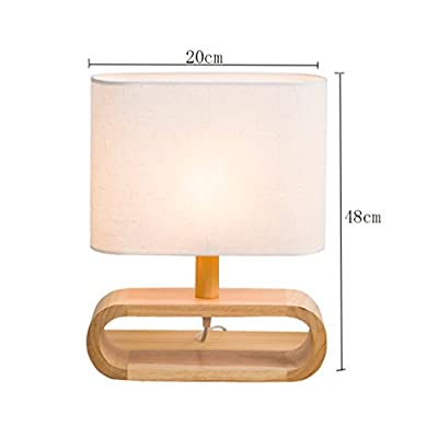 Lampe de table, lin en chêne Couverture en tissu simplicité ...