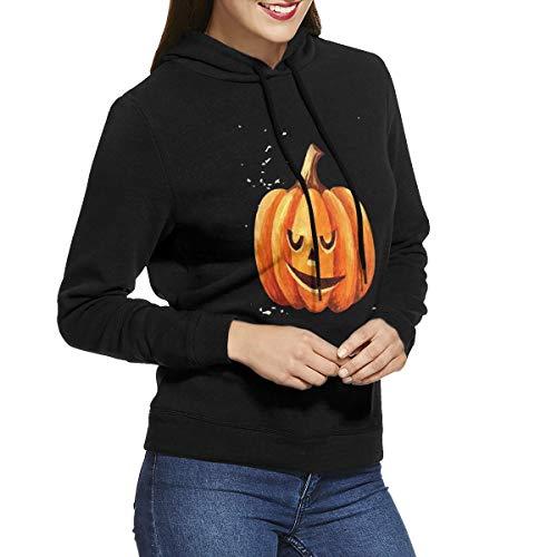 Womens Hoodies Halloween Pumpkin Decoration (2) Trendy Pullover Hoodie Long Sleeve Shirt]()
