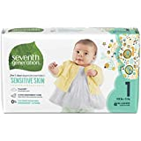 Seventh Generation Baby Diapers, Free & Clear for Sensitive Skin with Animal Prints, Size 1, 160 count (Packaging May Vary)