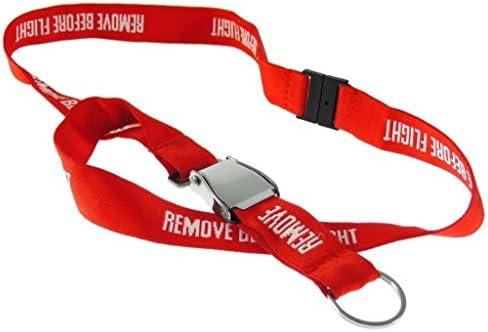 Skybelt Remove Before Flight Schlüsselband Lanyard Mit Miniatur Seatbelt Schnalle Auto