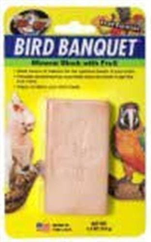 Zoo Med Mineral Block with Fruit Banquet Bird Food, 5-Ounce, My Pet Supplies