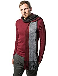 Winter Knit Scarf for men, Fashion Stripe Scarve in an elegant gift box