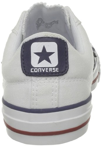 Core Ox Unisex Converse Child White Red Navy Star Canv Trainers Player Navy RYFIqHxF