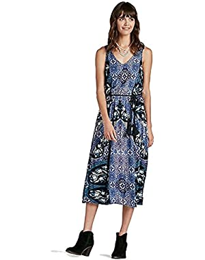 Mixed Printed Midi Dress 7W62897