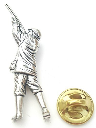 Clay Pigion Shooting Fait à la main avec étain anglais au Royaume-Uni Insigne De Goupille De Revers + 59mm Insigne De Bouton + Sac-cadeau
