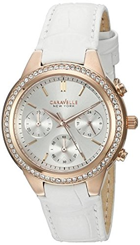Caravelle New York Women's 44L214 Analog Display Quartz White Watch