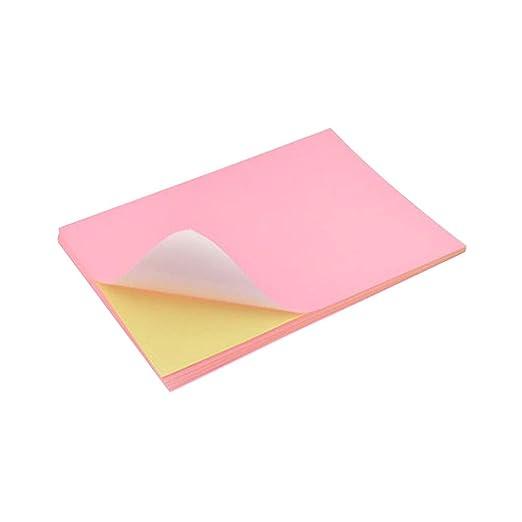 NUOBESTY 50 Piezas Papel Adhesivo Papel de impresión Autoadhesivo ...
