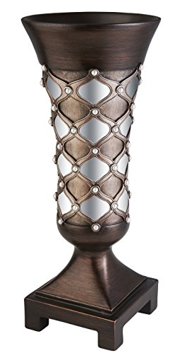 OK Lighting Arabesque Decorative Vase Floral Hand Painted Console