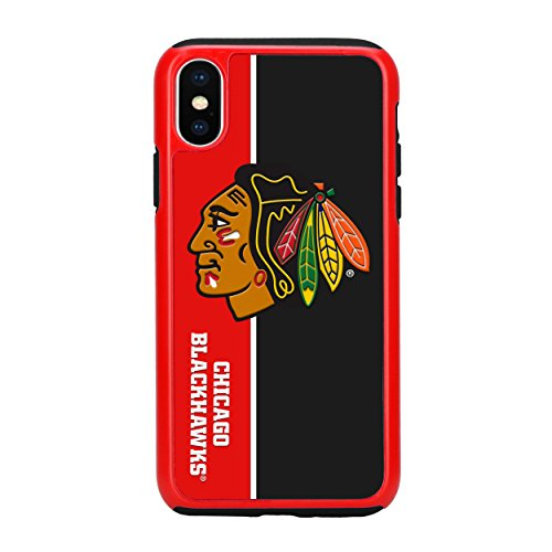 (Forever Collectibles iPhone X Dual Hybrid Bold Case - NHL Chicago Blackhawks)